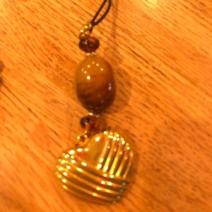 Big Heart/ Long cord necklace